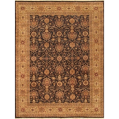 Pasargad Tabriz Hand-Knotted Black/Gold Area Rug