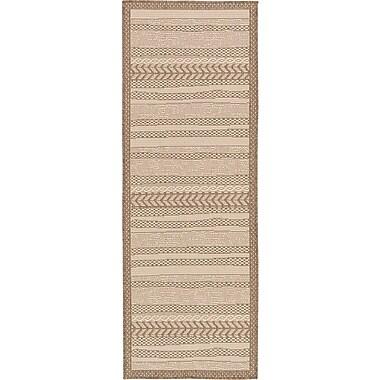 Unique Loom Beige Outdoor Area Rug; Runner 2'2'' x 6'