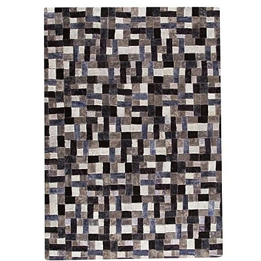 Hokku Designs Puzzle Hand-Tufted Gray Area Rug; 7'10'' x 9'10''