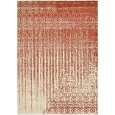 Unique Loom Del Mar Red Area Rug; 4' x 5'7''