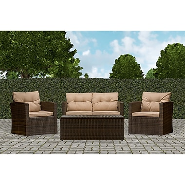 Wholesale Interiors Baxton Studio Imperia 4 Piece Seating Group w/ Cushions