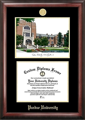 Campus Images NCAA Purdue University Diploma Frame w/ Lithograph Picture Frame