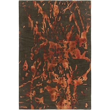 Chandra Brynn Hand-Tufted Orange/Green Area Rug; 7'9'' x 10'6''