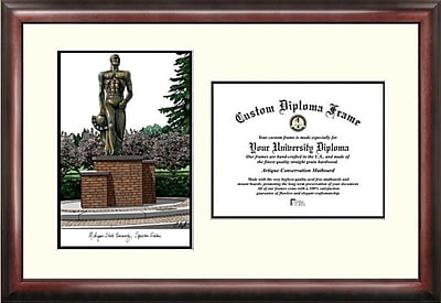 Campus Images NCAA Michigan State University Spartan Scholar Diploma Picture Frame