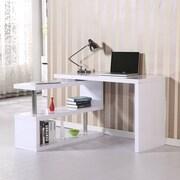 HomCom Rotating Computer Desk; White