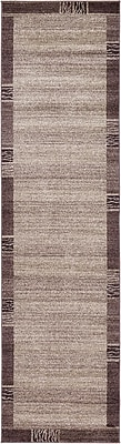 Unique Loom Del Mar Light Brown Area Rug; Runner 2'7'' x 10'