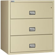 Phoenix Safe International 3-Drawer Vertical Filing Cabinet; Putty