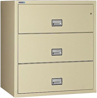 Phoenix Safe International 3-Drawer Vertical Filing Cabinet; Putty