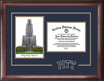 Campus Images NCAA Pittsburgh Panthers Spirit Graduate Diploma Picture Frame