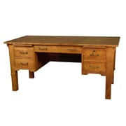 WoodRevival Mission George Washington Computer Desk; Quartersawn White Oak