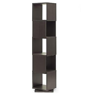 Wholesale Interiors Baxton Studio Ogden 5-Level Rotating Standard Bookcase