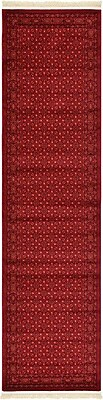 Unique Loom Bokhara Red Area Rug; Runner 2'7'' x 10'