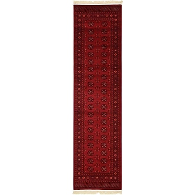 Unique Loom Bokhara Dark Red Area Rug; Runner 2'7'' x 10'