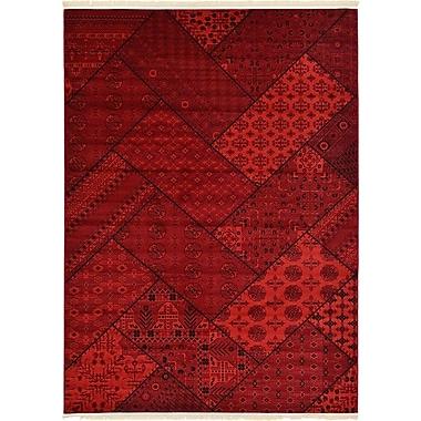 Unique Loom Bokhara Red Area Rug; 8' x 11'