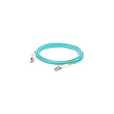 AddOn® ADD-LC-LC-5M5OM3 5 m LC to LC Male/Male OM3 Duplex Fiber Optic Patch Cable, Aqua