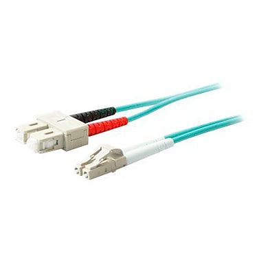 AddOn 1m LC (Male) to SC (Male) Aqua OM4 Duplex LSZH LOMM Patch Cable