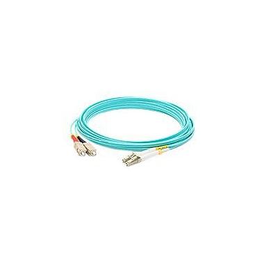 AddOn 2m LC (Male) to SC (Male) Aqua OM4 Duplex LSZH LOMM Patch Cable