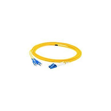 AddOn 8m LC (Male) to SC (Male) Yellow OS1 Duplex LSZH Single-Mode Fiber (SMF) Patch Cable