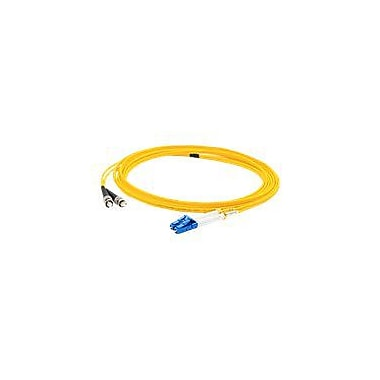 AddOn 2m LC (Male) to ST (Male) Yellow OS1 Duplex LSZH Single-Mode Fiber (SMF) Patch Cable