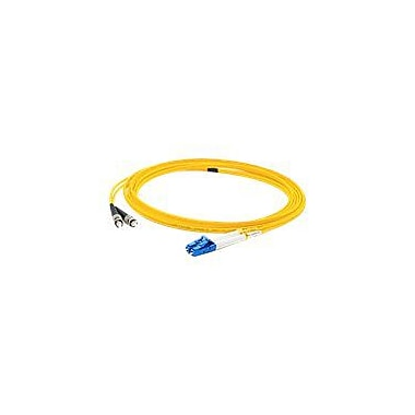 AddOn 6m LC (Male) to ST (Male) Yellow OS1 Duplex LSZH Single-Mode Fiber (SMF) Patch Cable
