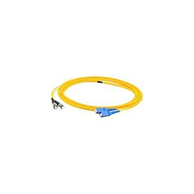 AddOn 5m SC (Male) to ST (Male) Yellow OS1 Duplex LSZH Single-Mode Fiber (SMF) Patch Cable