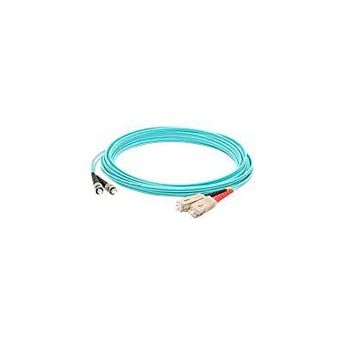 AddOn 3m SC (Male) to ST (Male) Aqua OM4 Duplex LSZH LOMM Patch Cable