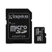 Kingston® Industrial SDCIT Class 10/UHS-I 16GB microSDHC Flash Memory Card with SD Adapter