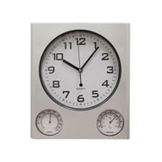 Natico Outdoor Clock and Weather Station Matte Silver (10-WS3269)