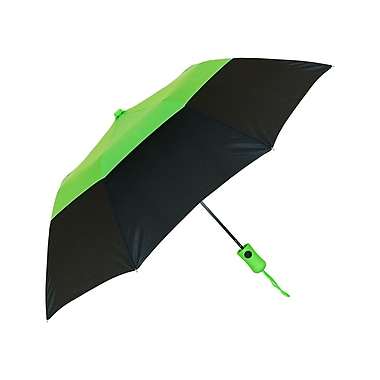 Natico – Parapluie aéré à « couronne », arc de 42 po, vert lime et noir (60-112-LM-BK)