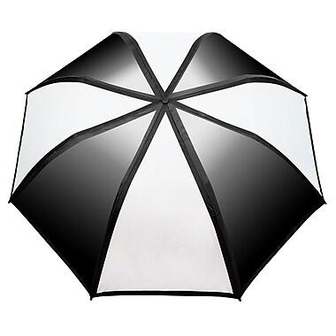 Natico – Parapluie avec dégradé de couleur, arc de 58 po, noir et blanc (60-122-BK-WH)