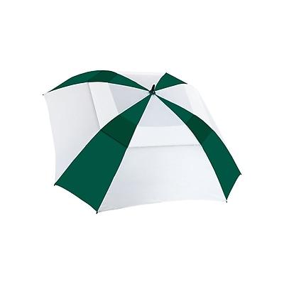 "Natico Vented Square Deal Umbrella 62"" Arc Green and White (60-62-GN-WH)"