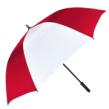 Natico – Parapluie Tornado aéré, arc de 64 po, rouge et blanc (60-83-RD-WH)