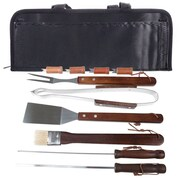 Natico BBQ Tool Set, 11 Piece Stainless Steel with Wood Handles (60-BBQ-11)