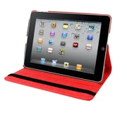 "Natico iPad Pro Faux Leather 360 Degrees Rotating Case 12.90""  Red (60-IPRO-360-RD)"