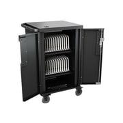 Bretford® CoreX Black Steel 2 Shelves Charging Cart (TCOREX24)