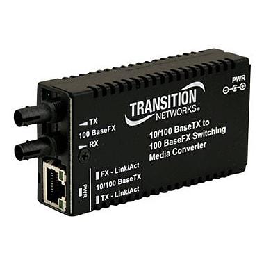 Transition Networks® Mini Fast Ethernet Transceiver/Media Converter (M/E-PSW-FX-02-NA)