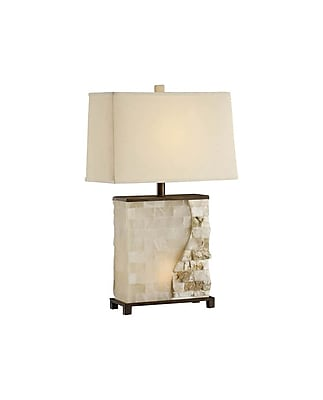 Aurora Lighting 2-Light Incandescent Table Lamp - Stone Translucent (STL-CST028546)