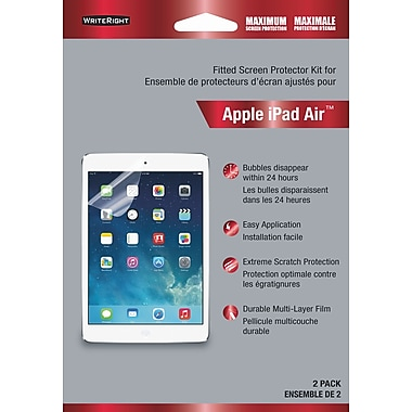 Fellowes - Protecteur d'écran WriteRight pour iPad Air, protection maximale, paq./2 (9390903)