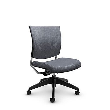 Global® (2737 MT30) Graphic Posture Armless Chair, Match Grey Fabric, Grey