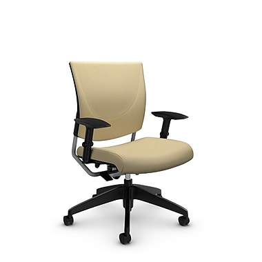 Global® (2739 IM70) Graphic Posture Chair, Imprint Almond Fabric, Tan