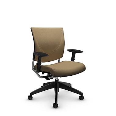 GlobalMD – Chaise ergonomique Graphic (2739 IM71), tissu imprimé liège, brun clair