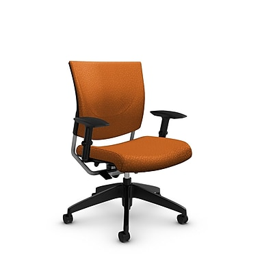 GlobalMD – Chaise ergonomique Graphic (2739 MT23), tissu assorti, orange