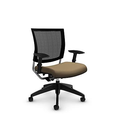 GlobalMD – Chaise ergonomique en maille Graphic (2738MB IM71), tissu imprimé liège, brun clair