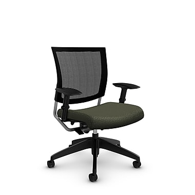 Global® (2738MB MT22) Graphic Mesh Posture Chair, Match Moss Fabric, Green