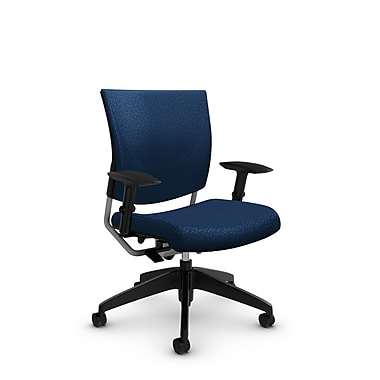 Global® (2739 MT26) Graphic Posture Chair, Match Wave Fabric, Blue