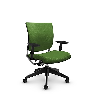 Global® (2739 MT27) Graphic Posture Chair, Match Green Fabric, Green