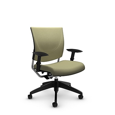 Global® (2739 IM77) Graphic Posture Chair, Imprint Green Tea Fabric, Green
