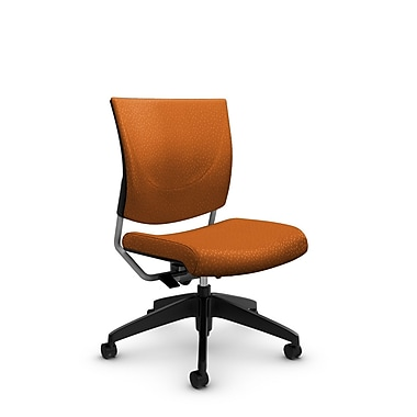 Global® (2737 MT23) Graphic Posture Armless Chair, Match Orange Fabric, Orange
