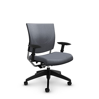 Global® (2739 MT30) Graphic Posture Chair, Match Grey Fabric, Grey