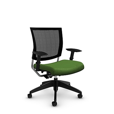 Global® (2738MB MT27) Graphic Mesh Posture Chair, Match Green Fabric, Green